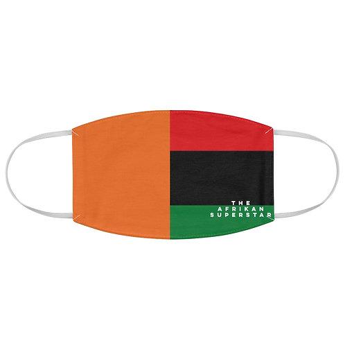 Orange Split Pan African Fabric Face Mask