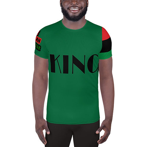 "Green ""King"" Men's Athletic T-shirt"