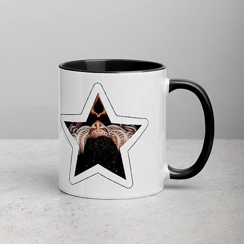 Afrikansuperstar logo star Mug with Color Inside