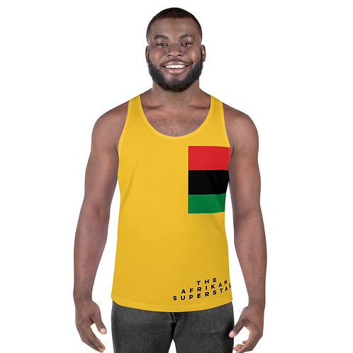 Men's Yellow Pan African Unisex Tank Top