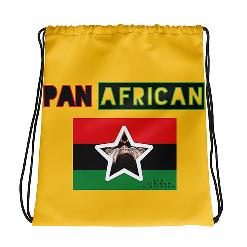Yellow Proud Pan African Drawstring bag