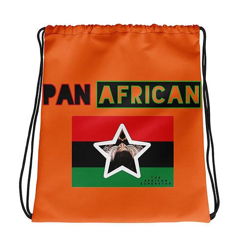 Orange Proud Pan African Drawstring bag