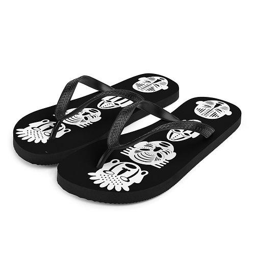 Black Quad Mask Flip-Flops