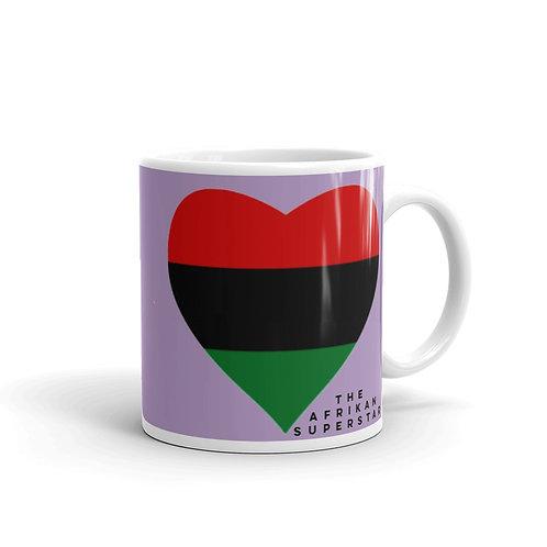 Purple Pan African Love Mug