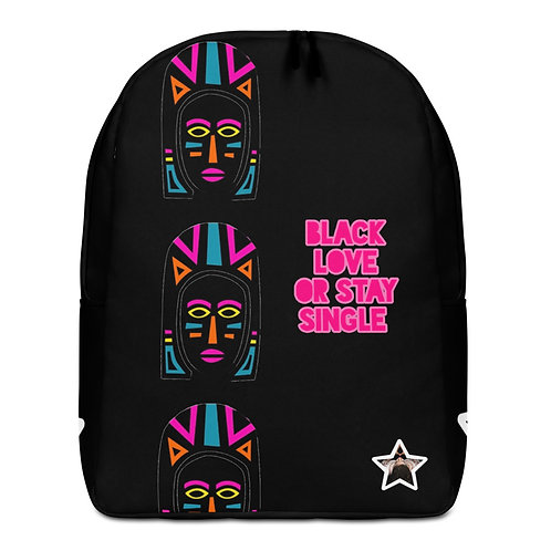 "Black Explosion ""Black Love or Stay Single"" Minimalist Backpack"