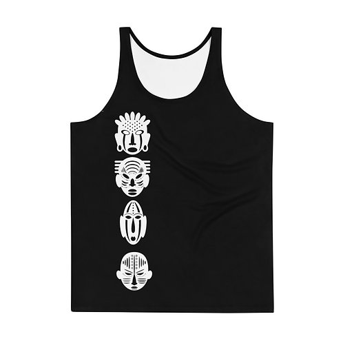 Men's Black Quad Tank Top