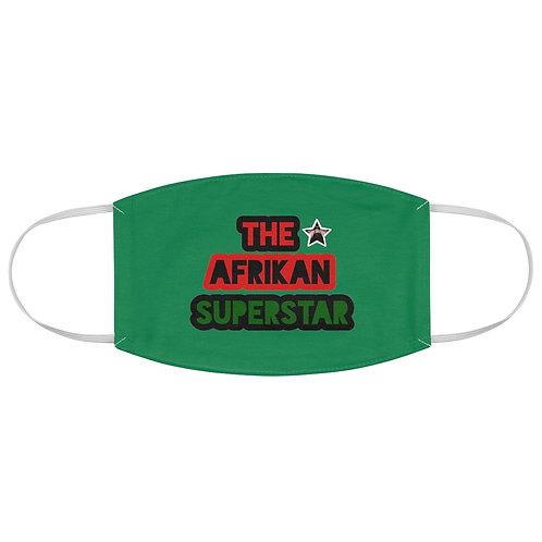 Green Afrikansuperstar Fabric Face Mask