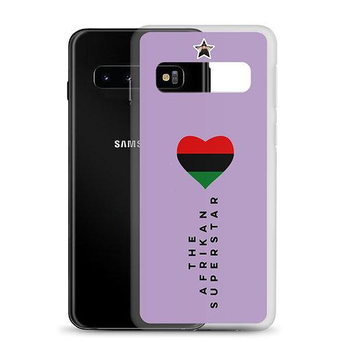 "Purple ""Pan African Love"" Samsung Case"