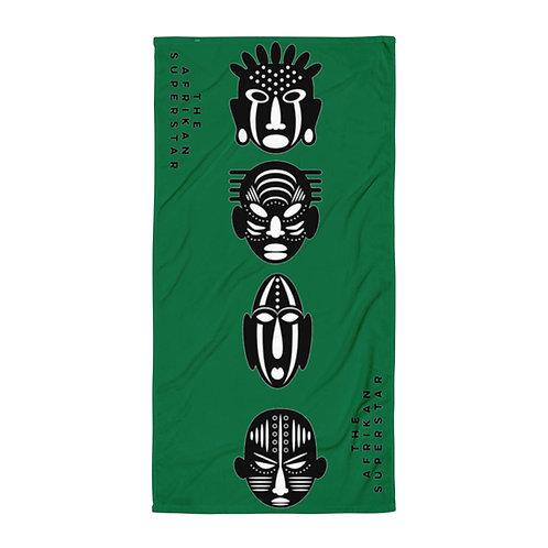 Green Quad Mask Towel