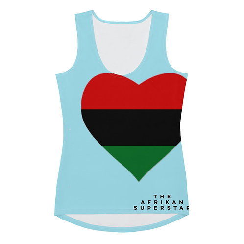 Blue Pan African Love Sublimation Cut & Sew Tank Top