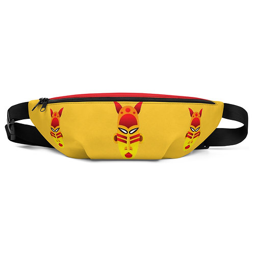 Yellow Fire Mask Fanny Pack