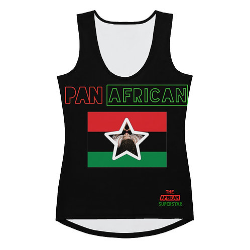 Black Proud Pan African Sublimation Cut & Sew Tank Top