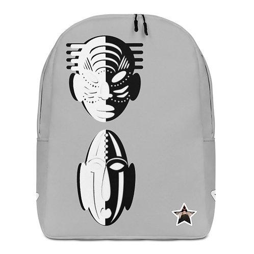 Grey Duo Mask Minimalist Backpack