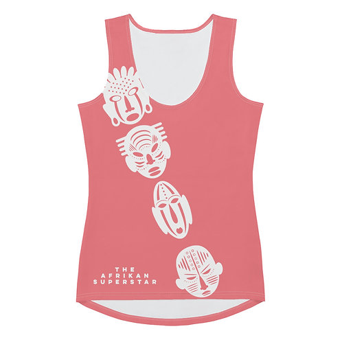 Coral Ivory Cross Mask Sublimation Cut & Sew Tank Top