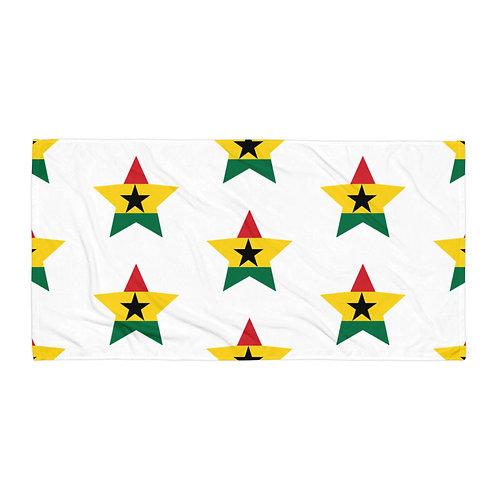 White Ghana All Star Towel