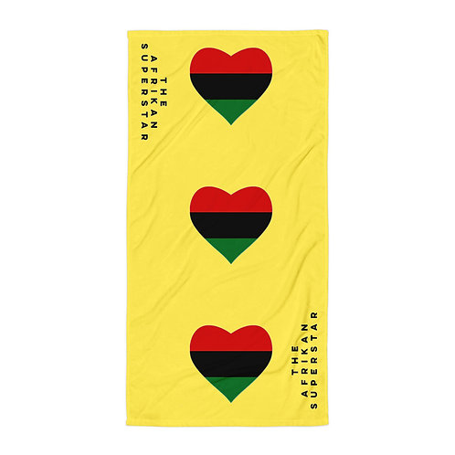 Yellow Pan African Love Towel