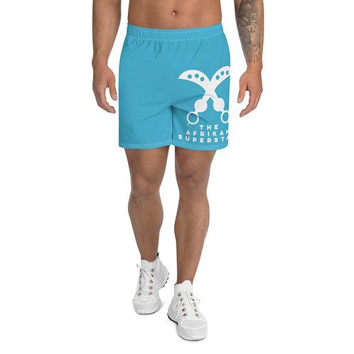 Blue Akofena Adinkra Men's Athletic Long Shorts