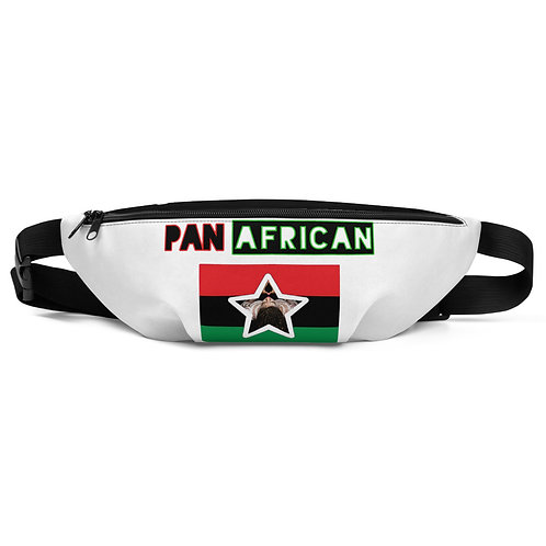 Two Tone White/Black Pan African Fanny Pack