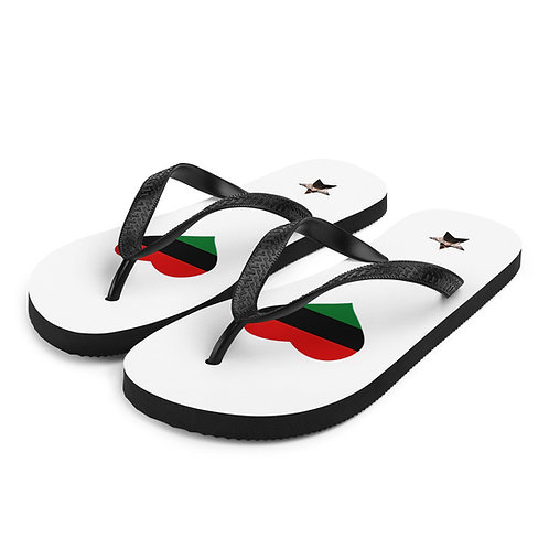 White Love Pan African Flip-Flops