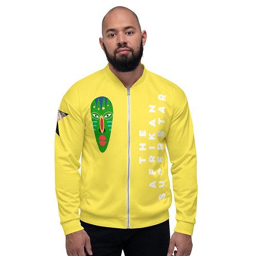 Yellow Jade Mask Unisex Bomber Jacket