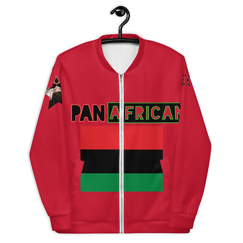Red Proud Pan African Unisex Bomber Jacket
