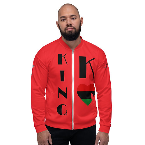 Red Pan African King Unisex Bomber Jacket