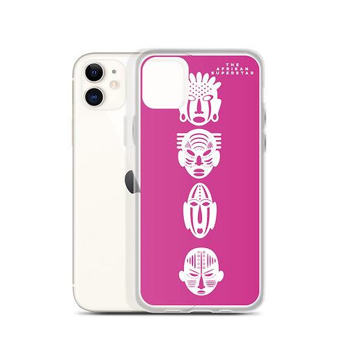 Designer Pink Ivory Quad Mask iPhone Case