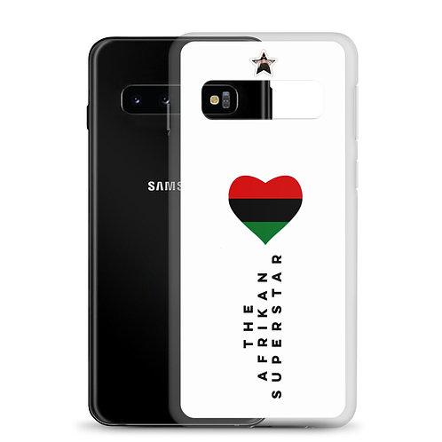 "White Designer ""Pan African Love"" Samsung Case"