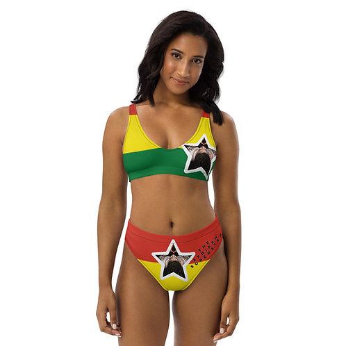 Afrikansuperstar X Ghana Recycled high-waisted bikini