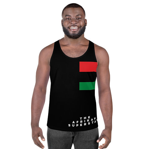 Men's Black Pan African Unisex Tank Top