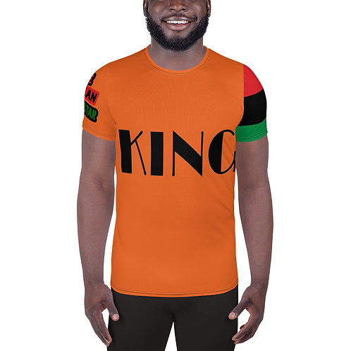 "Orange ""King"" Men's Athletic T-shirt"
