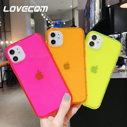 Designer LOVECOM Fluorescent Color Shockproof Phone Case for iPhone