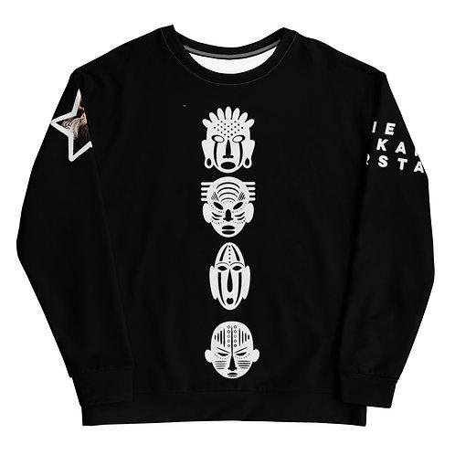 Black Quad Mask Unisex Sweatshirt