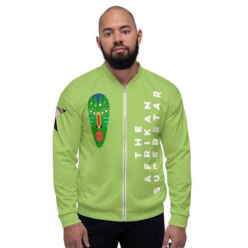 Green Jade Mask Unisex Bomber Jacket