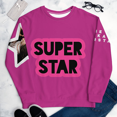 Pink Superstar Unisex Sweatshirt