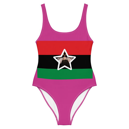 Pink Superstar Pan African One-Piece Swimsuit