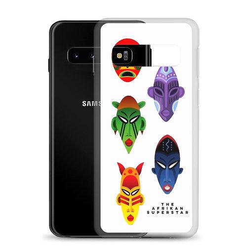 Designer White Mask Samsung Case