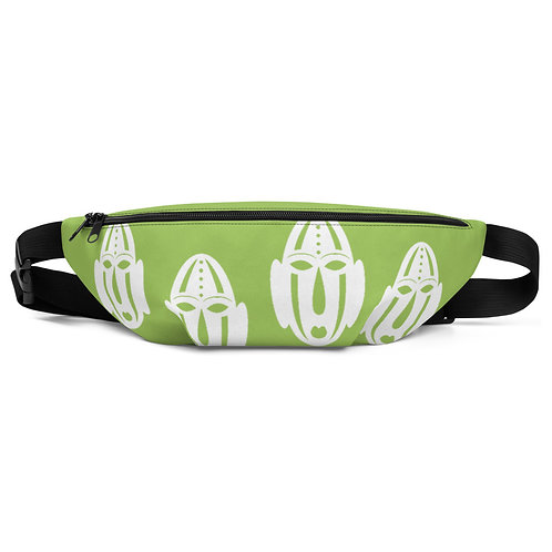 Lime Green Ivory Mask Fanny Pack