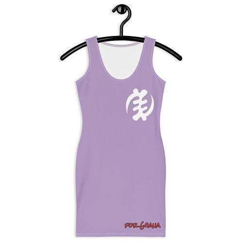 Afrikansuperstar X Ghana Purple  Gye Nyame Dress