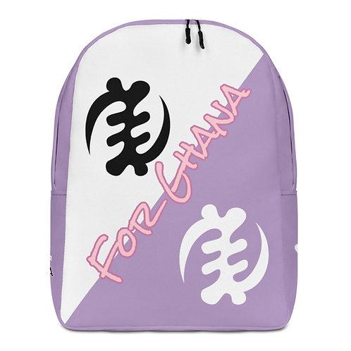 Purple Gye Nyame Adinkra Minimalist Backpack