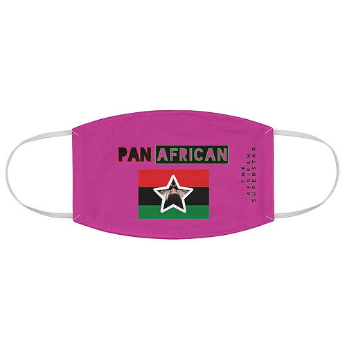 Pink Proud Pan African Fabric Face Mask