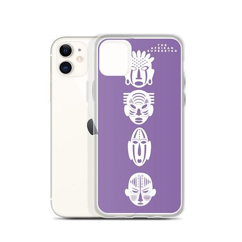 Designer Purple Quad Mask iPhone Case