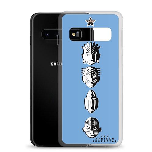 Designer Blue Quad Mask Samsung Case