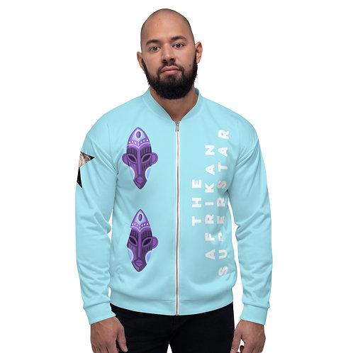 Blue Orchid Mask Unisex Bomber Jacket
