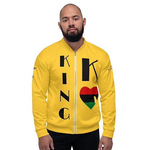 Yellow Pan African King Unisex Bomber Jacket