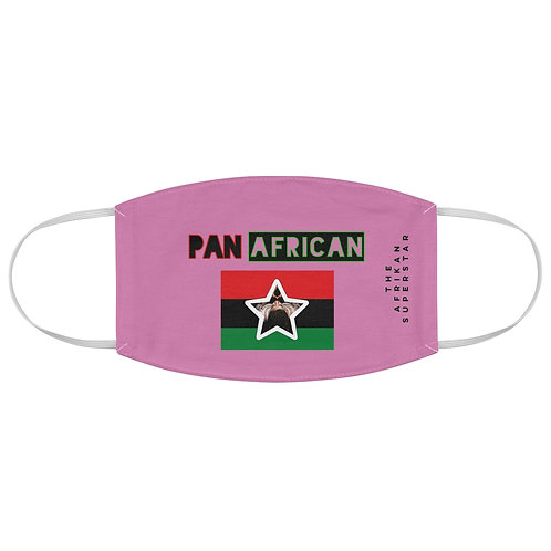 Light Pink Proud Pan African Fabric Face Mask