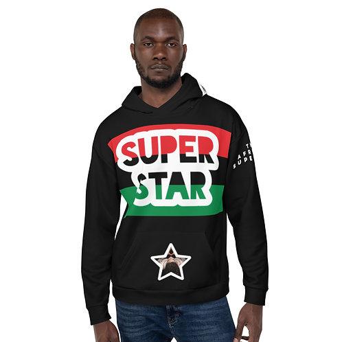 Black Superstar Pan African Unisex Hoodie