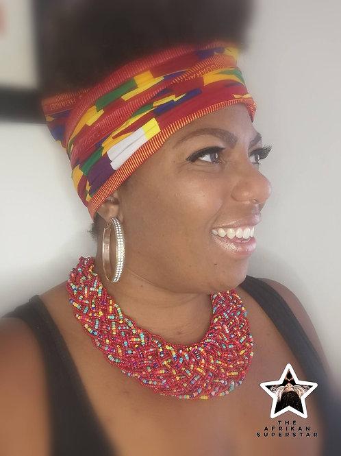 'Spectrum Rain' Maasai Multi Beaded Necklace