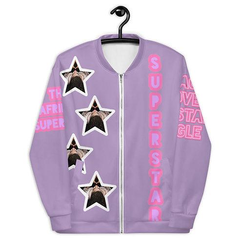 """Lavender """"Superstar"""" Unisex Bomber Jacket"""