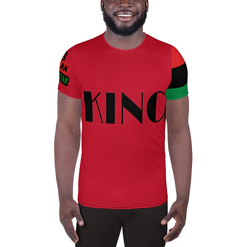 "Red ""King"" Men's Athletic T-shirt"